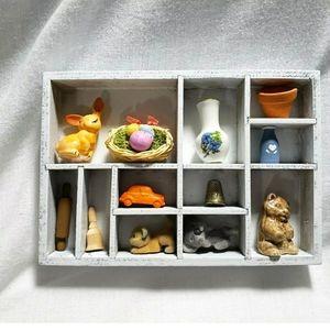 Mini Wood Hanging Shadow Box w/ Miniatures